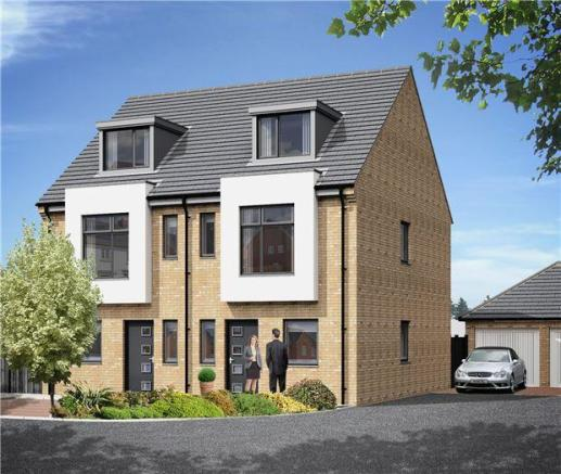 4 bedroom semi detached house for sale in the white house for Modern house uk for sale