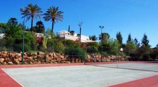 Villa from tennis court