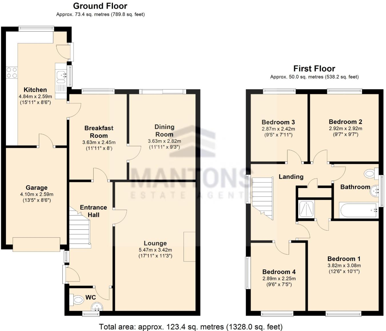 4 bedroom detached house for sale in Blakeney Drive, Luton ...