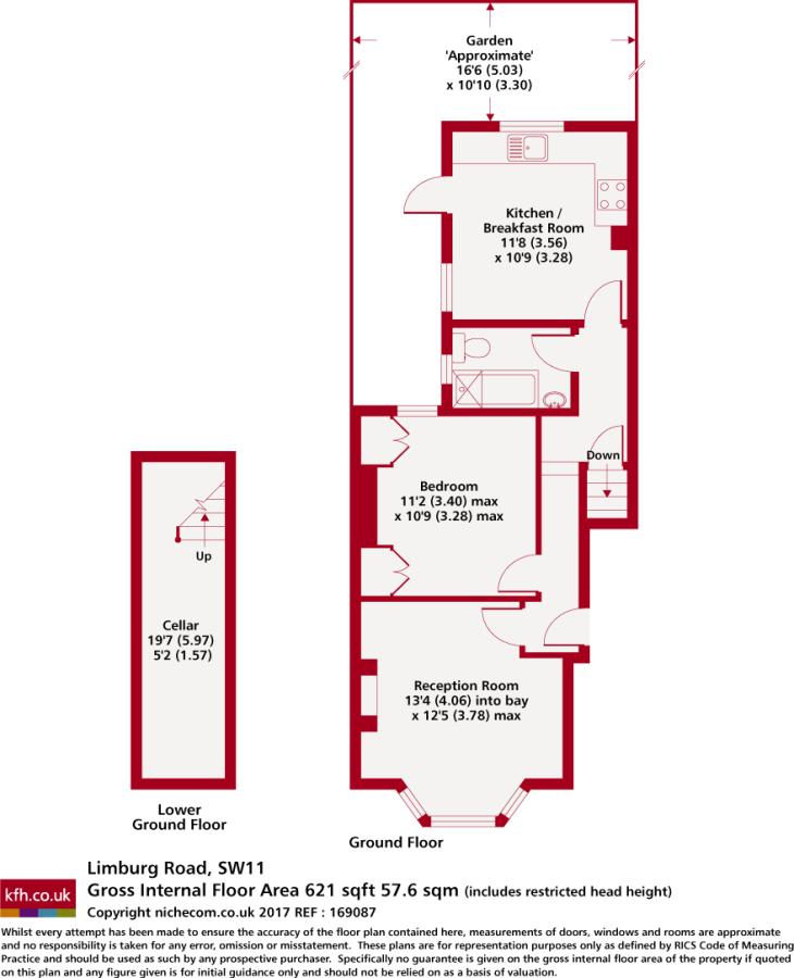 1 bedroom apartment to rent in Limburg Road London SW11 SW11