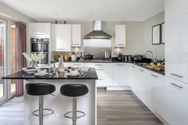 Moorecroft kitchen at Spireswood Grange