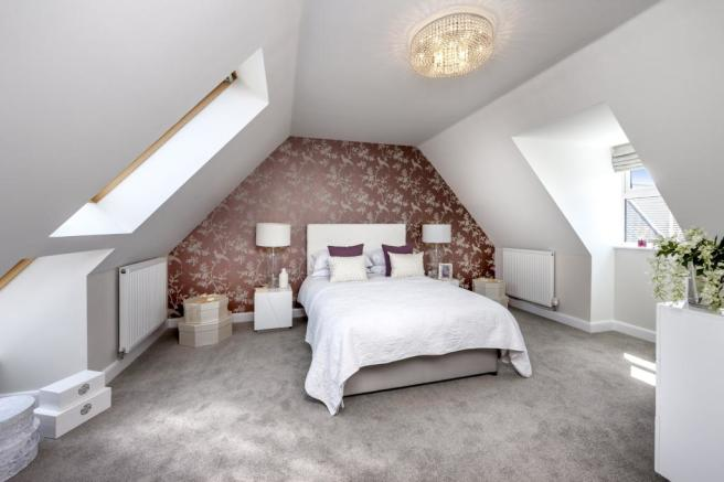 The Moorecroft bedroom 2 at Spireswood Grange, Hurstpierpoint