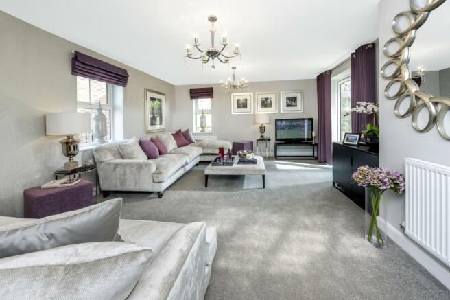 Moorecroft living room at Spireswood Grange