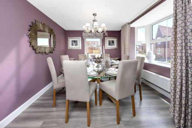 Moorecroft dining room at Spireswood Grange