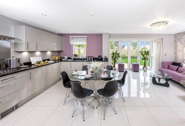 The kemble kitchen/family room