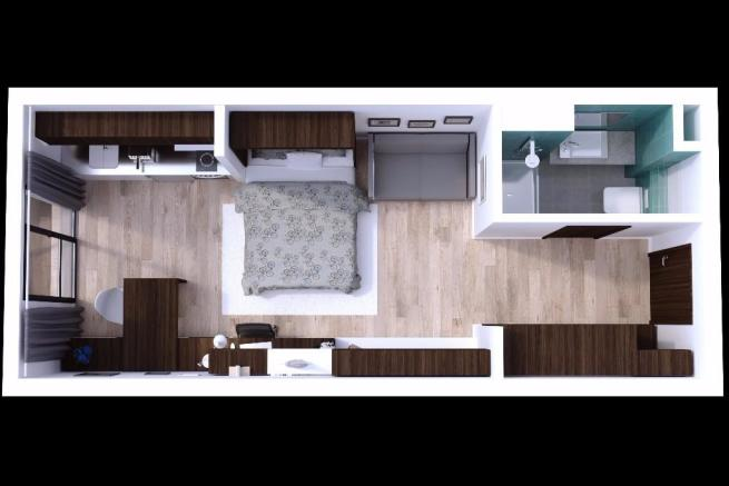 Plan with Bed