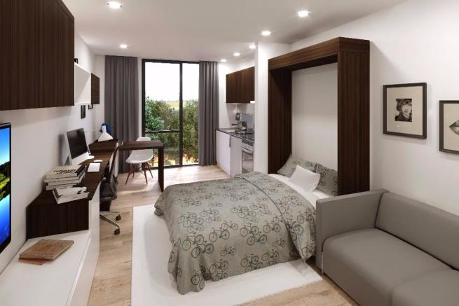 Bed / Kitchenette