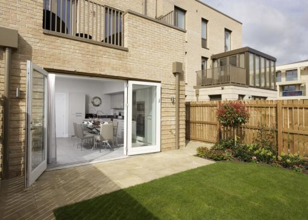 Rear garden and kitchen