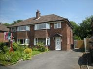 semi detached house to rent in Dean Drive, WILMSLOW...