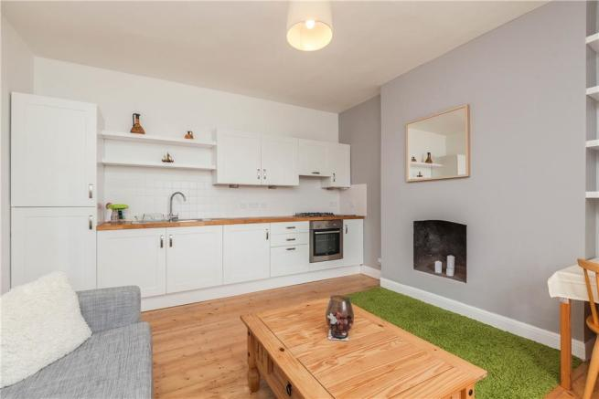 Sitting Room with Open Plan Kitchen