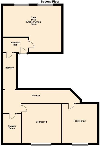 Flat 3, Bull Lane - Second Floor