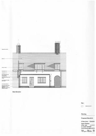 Drawing of proposed rear elevation pic