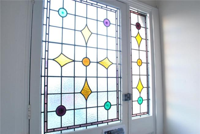 Stained glass main door