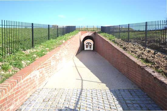Impressive Front Entrance to Fort