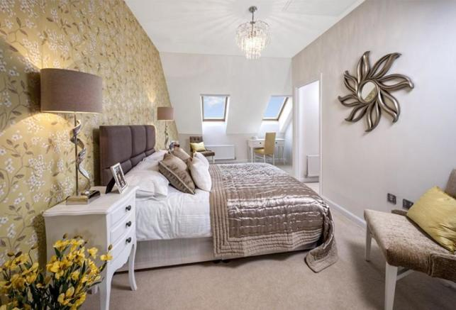 Typical Padstow master bedroom with dressing area and en suite