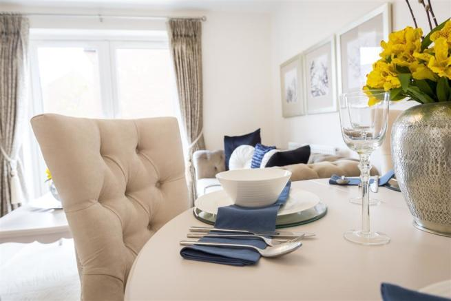 A typical Taylor Wimpey dining area