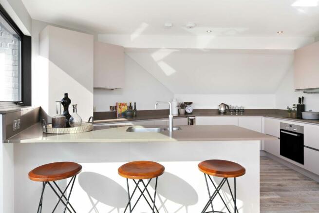 Penthouse (showflat) kitchen space