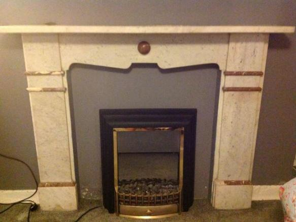 feature fireplace in