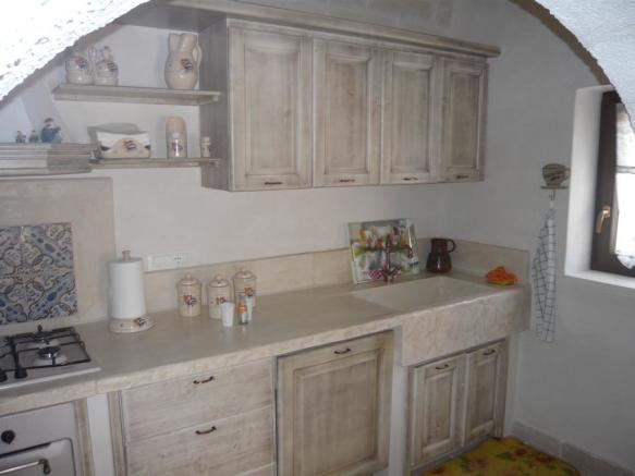 Kitchen in villa 1