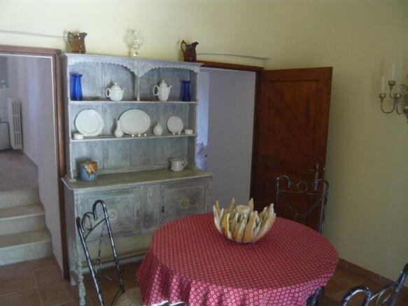 Dining area in trullo