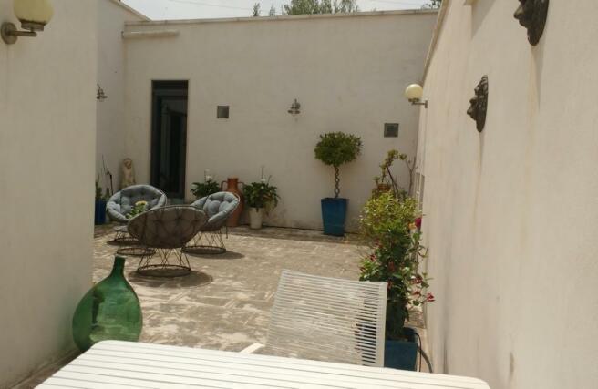 Courtyard off reception