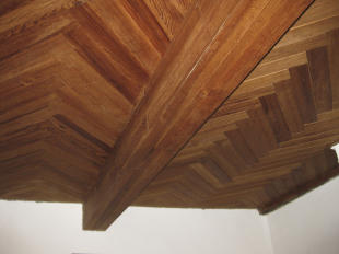 Herringbone ceiling