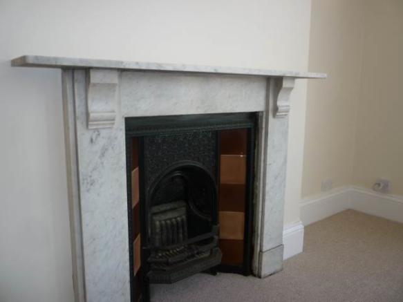 Sitting Room, Marble Fireplace