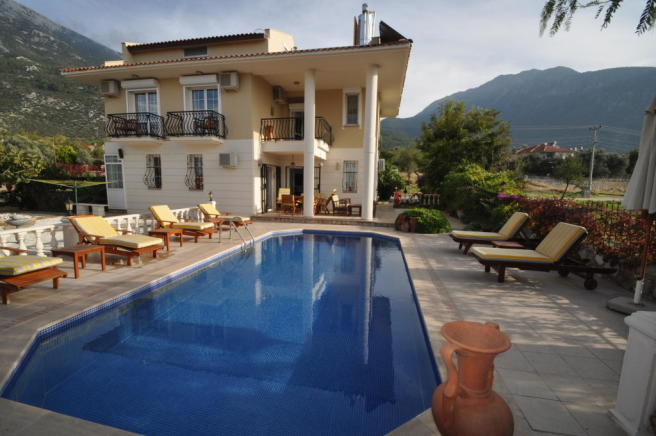 Pool view of villa