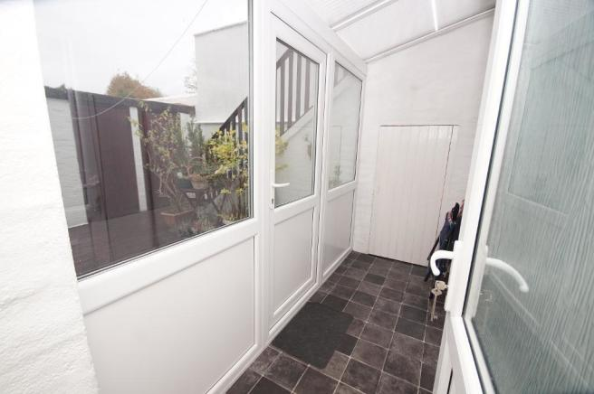 Rear Porch & Courtyard