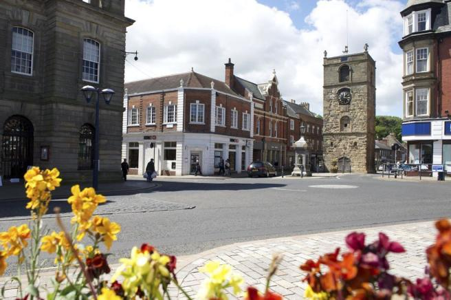 Morpeth town centre and Clock Tower