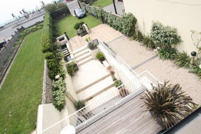 Garden view from bedroom terrace