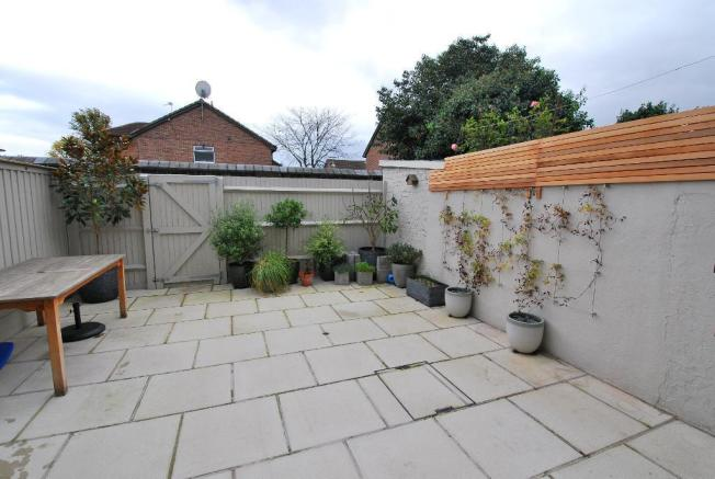 Southerly Facing Paved Garden
