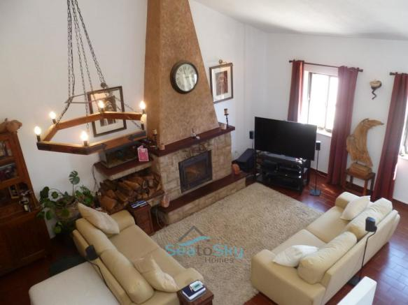 Main lounge with fireplace