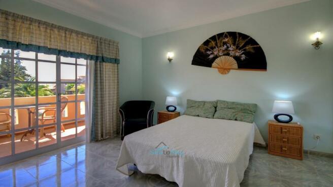 sleeping area & balcony