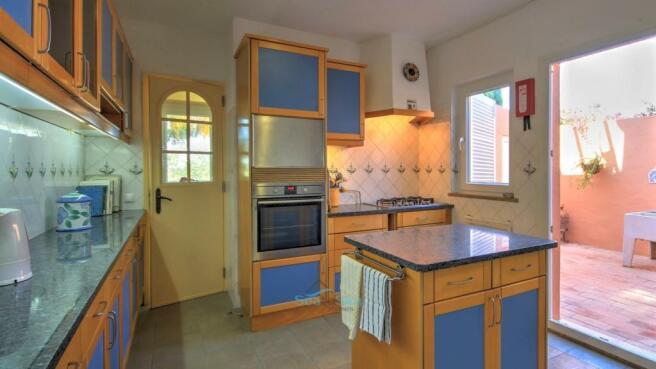 kitchen with preparation island
