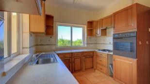 Kitchen with mountain views