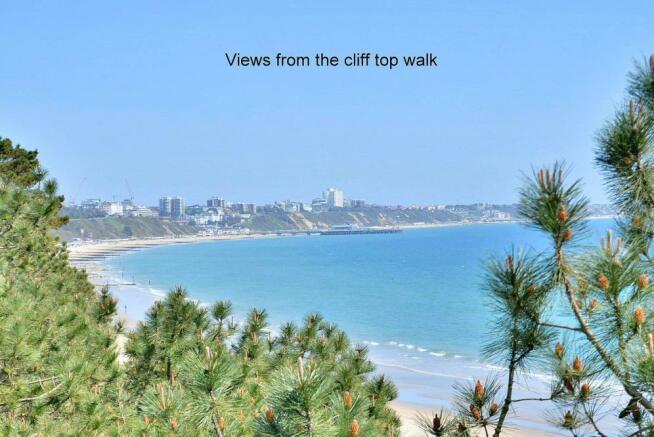 View from Canford Cliffs clifftop walk