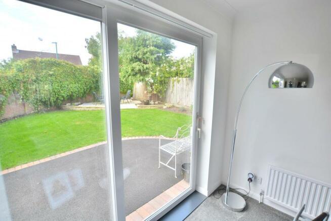 Patio doors into garden