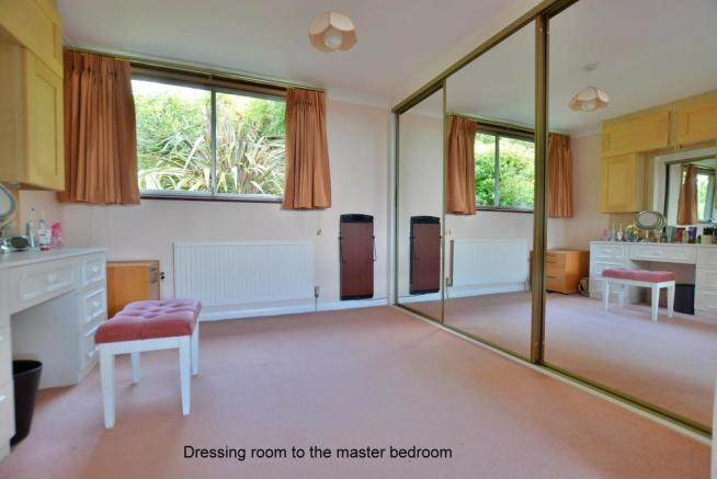 Dressing room to the master bedroom