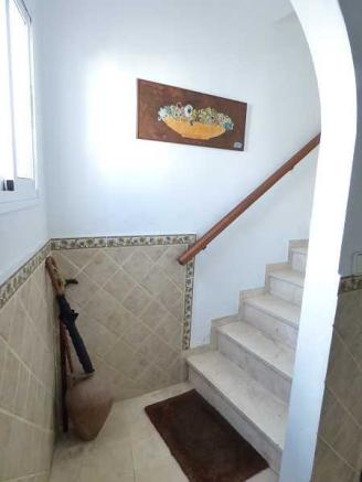 Steps to first floor