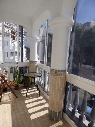 Balcony off kitchen