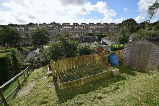 Rear garden an...