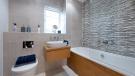 Luxurious bathroom, full height tiling