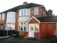 semi detached home to rent in Valley Road, Solihull...