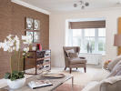 Feature bay window in living room