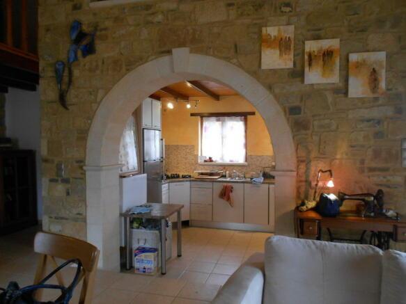 Arch to kitchen