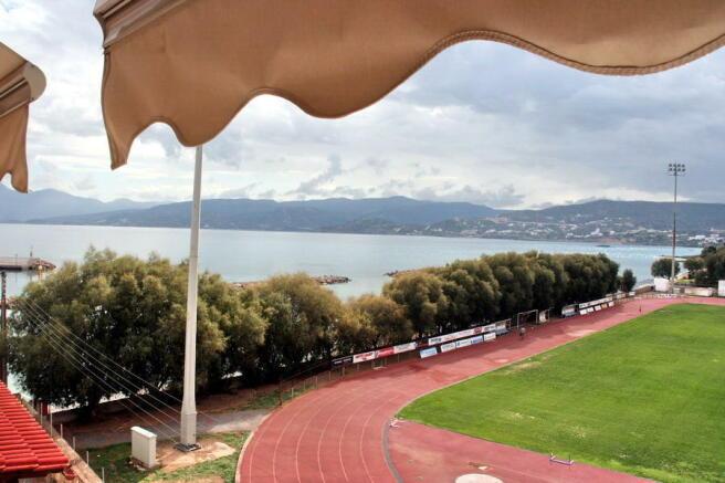 View over stadium