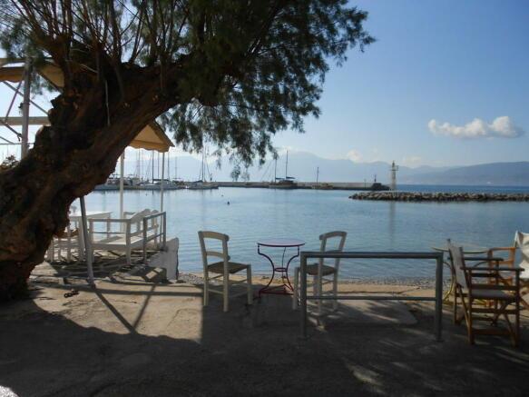Taverna and beach