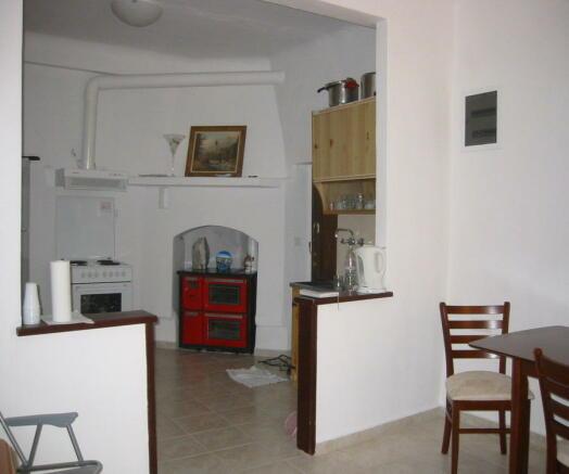 Towards kitchen area