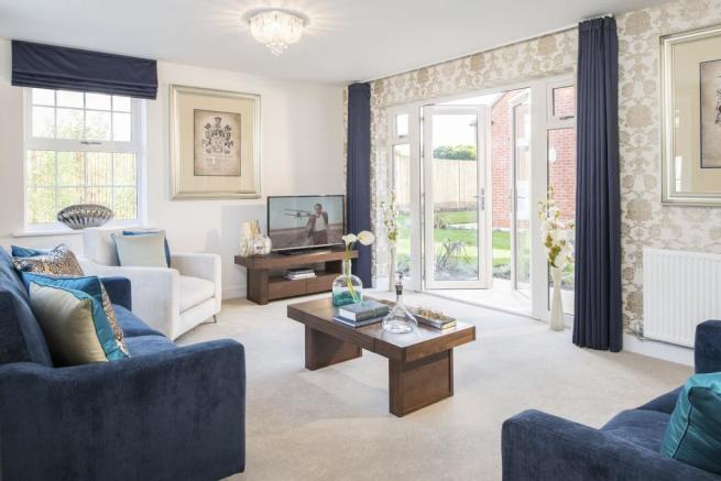 Family lounge with French doors